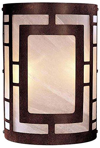 Minka Lavery Wall Sconce Lighting 346-14, Glass Damp Bath Vanity Fixture, 2 Light, 120 Watts, ()