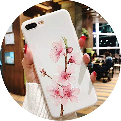 Lotus Flower Case for iPhone 3D Relief Rose Floral Phone Case for iPhone Cases,SJ7581,for iPhone 5 5S -