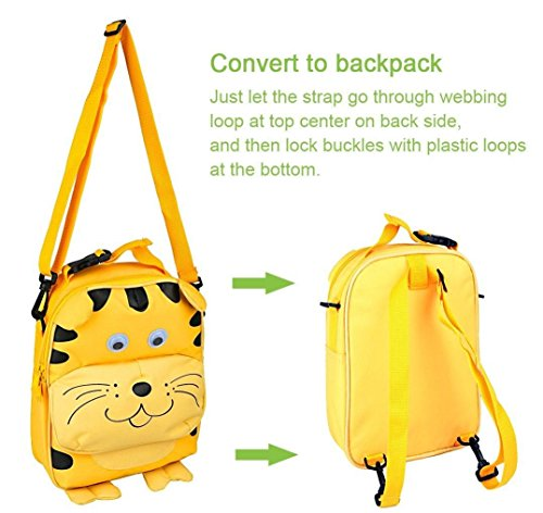 Cooler Preschool Kids School Naughty bag Cool Multifunctional Backpack Toddler Way 3 Lunch Babyhugs Way Animal Monkey Lunchbox Nice Tiger Bag Rucksack 3 vxwpff