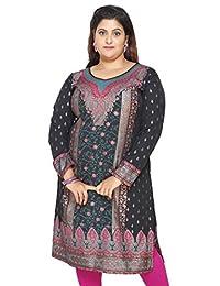 Maple Clothing Women's Plus Size Dress Indian Tunics Kurti Long Top