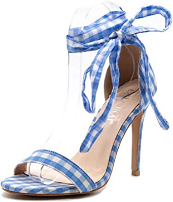 Show-Show-Fashion slides-sandals high Heels Women Sandals Open Toe Lace up high Heels Footwear Shoes Ladies Party