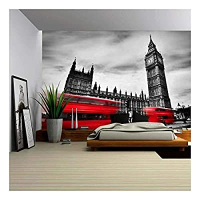 The UK Red Buses in Motion and Big Ben, Premium Product, Beautiful Handicraft