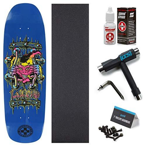 Black Label Deck - Black Label John Luvero X2 Skateboard Deck - Blue Dip - 8.88