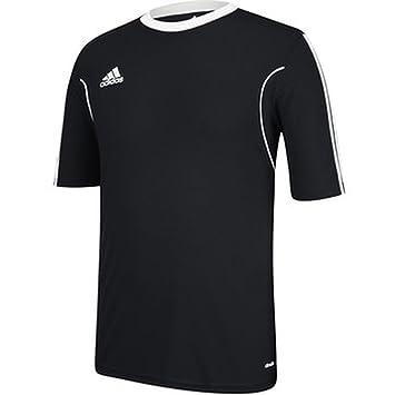 adidas Climalite Squadra 13 - Camiseta de Manga Corta para Hombre, XL, Negro, Blanco: Amazon.es: Deportes y aire libre