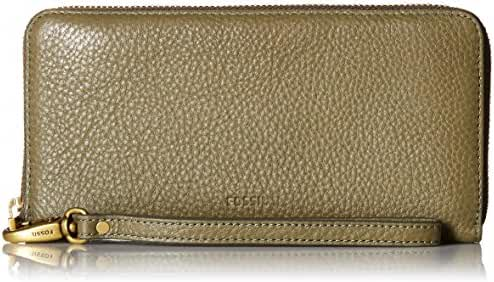 Fossil Emma Rfid Large Zip Clutch Rosemary Wallet