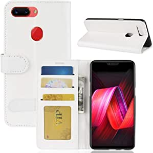 WTYD Mobile Phone Accessories Crazy Horse Texture Horizontal Flip Leather Case for OPPO R15 Pro, with Wallet & Holder & Card Slots (Black) (Color : White)