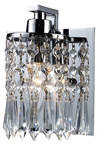 Polished Chrome Optix 1 Light 7in. Bathroom Sconce with Shade