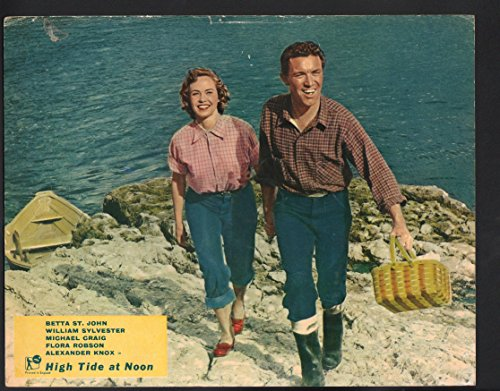 MOVIE POSTER: High Tide at Noon Lobby Card-Betta St. John and Flora Robson walking on - On Robson Stores