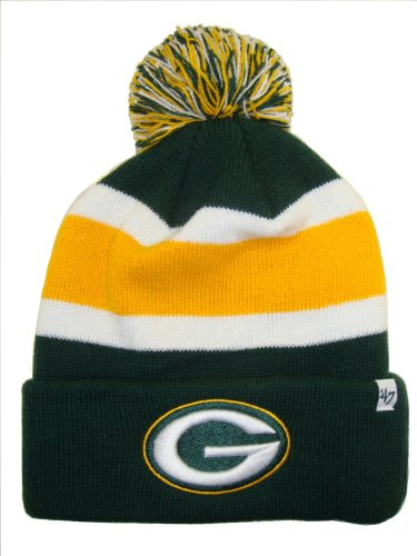 (NFL Green Bay Packers Men's Breakaway Knit Cap, One Size, Dark Green)