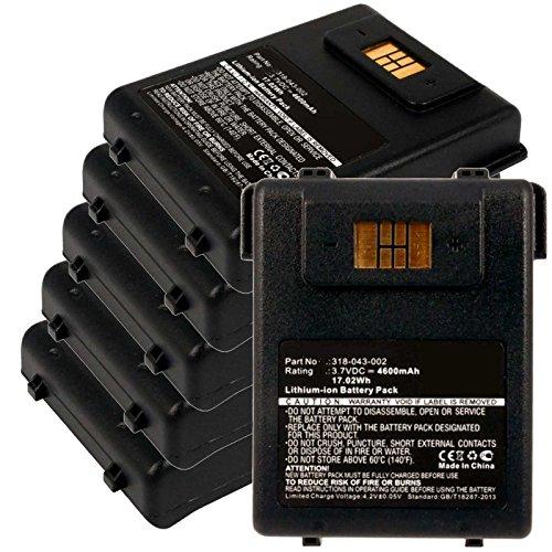 6x Exell EBS-CN70X Li-Ion 3.7V 4600mAh Batteries For Intermec CN70, CN70e. Replaces Cameron Sino CS-ICN700BX, INTERMEC 318-043-002 by Exell Battery