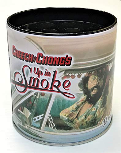 Eclipse Cheech & Chong Office Desk Storage Cup, Metal Pen & Pencil Holder, Removable Divider, Office Supplies (Up in Smoke Very Funny Car)