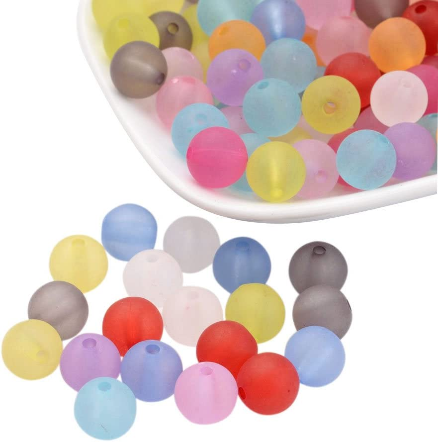 2/mm; /Über 938pcs//500/g Loch nbeads 500/g gemischte Farbe Matt Spacer Perlen 10/mm matt rund Ball Stil