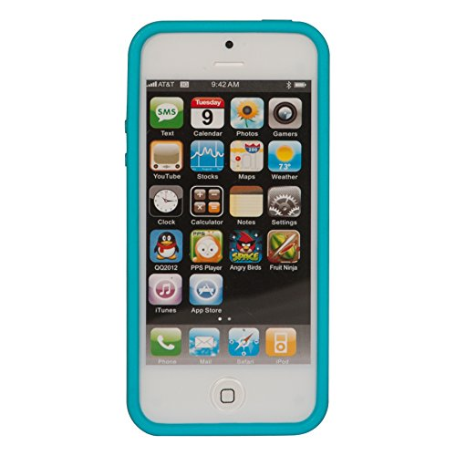 Nite Ize BIO-IP5-69 BioCase for iPhone 5 - 1 Pack - Retail Packaging - Turquoise