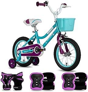 CYCMOTO Girls Bike for 4 5 6 Years Child, 16
