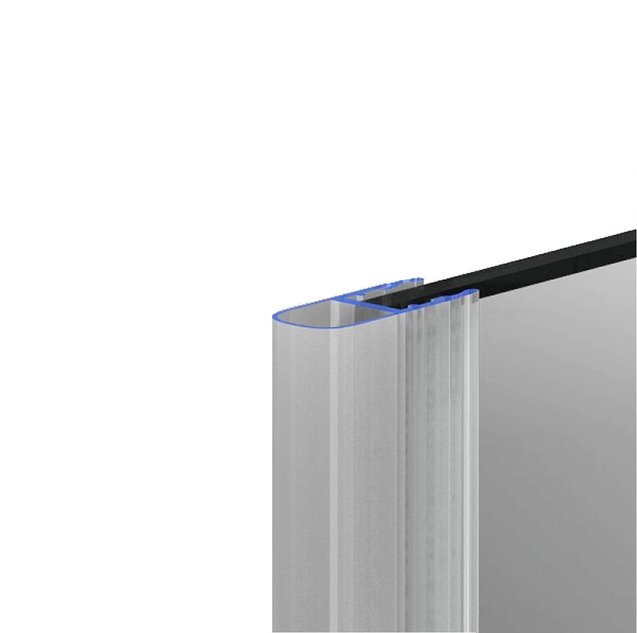 Duschdichtung Dichtleiste Balgdichtung Modell 9 fü r 8mm Glasstä rke 200cm .one-bath