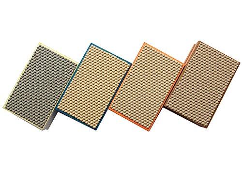 20 pieces 90x55mm Rectangular Resin Diamond Hand Polishing Pads