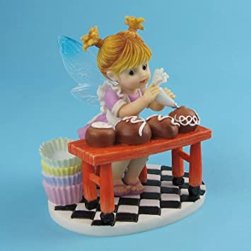 Enesco My Little Kitchen Fairies from Girl Making Candy Truffles Figurine 3.75 in
