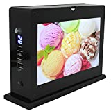 Replaceable LCD Picture Display and Video Player on Two Sides, 20000mAh Power Bank with 3 USB Ports, 8GB Destop Digital Picture Frame to Display HD Advertise – 7 Inch, L16C