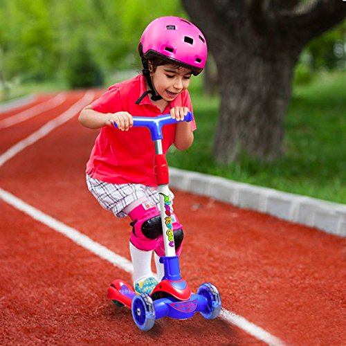 Greentest Scooter Foldable and Adjustable Height Lean to Steer 3 Wheel Scooters for Toddler Kids Boys Girls Age 3-8 by Greentest (Image #6)