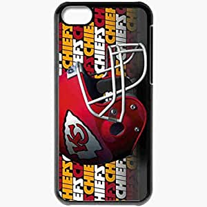 Personalized iPhone 5C Cell phone Case/Cover Skin 1675 kansas chiefs Black