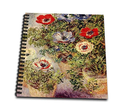 - 3dRose db_49336_1 Monet-Still Life Painting-Drawing Book, 8 by 8-Inch