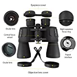 10 x 50 Powerful Full-size Binoculars For Adults, Durable Clear Binoculars For Bird Watching Sightseeing Hunting Wildlife Watching Sporting Events, W/Carrying Case Strap Lens Caps(1.76 Pound)