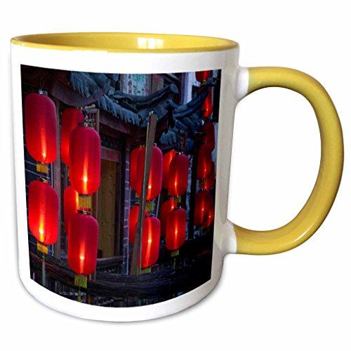 3Drose Danita Delimont   Chinese Icons   China  Yunnan  Lijiang  Xinhua Jie  Lanterns As07 Wbi1046   Walter Bibikow   11Oz Two Tone Yellow Mug  Mug 71084 8