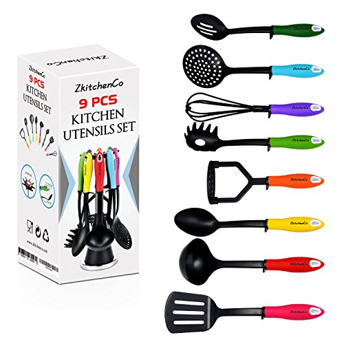 ZkitchenCo 9-Piece Kitchen Utensils Home Cooking