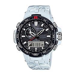 Casio Mens Pro Trek TRIPLE SENSOR Digital Sport Solar Watch (Imported) PRW-6000SC-7D