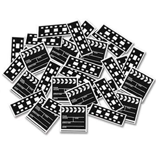 hersrfv home Movie Set Clapboard & Filmstrip Printed Confetti Red Carpet Awards VIP Party