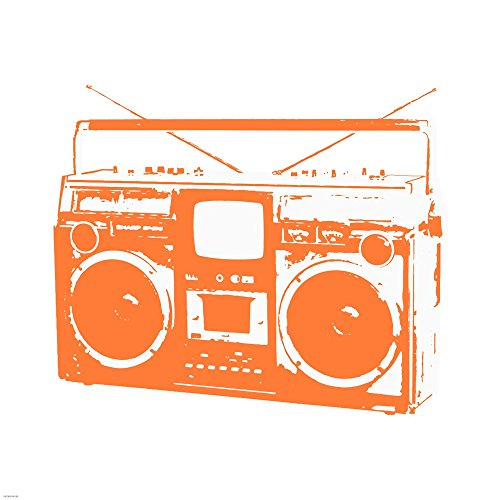 Orange Boom Box by Veruca Salt Art Print, 30 x 30 inches ()