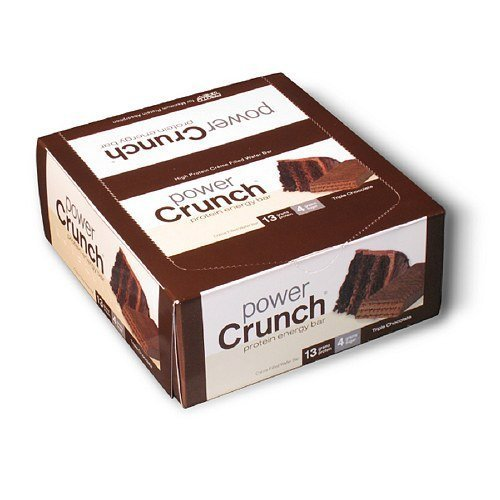 Power Crunch Creme Filled Wafer (Protein Energy Bar Triple Chocolate 1.40 Ounces (Case of 12))