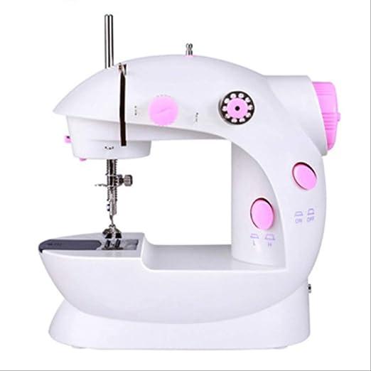 Mini Máquina De Coser Eléctrica Home Multifunción Miniatura Con Luz Y Cuchillo Secante Rosa: Amazon.es: Hogar