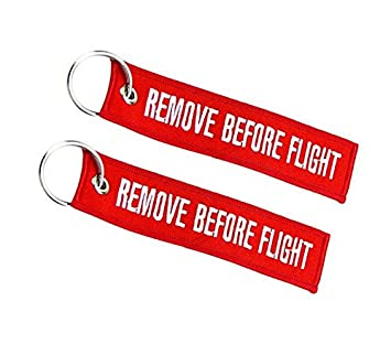 Moto Discovery Remove Before Flight Llavero Doble Cara Rojo ...