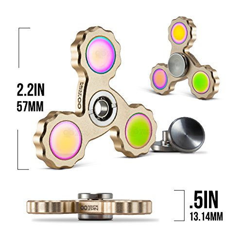 Precision Fidget Spinner Toy By Infinite Spin – High Speed Hybrid Bearings – Perfect for ADHD, Increasing Focus, Concentration, Quitting Bad Habits: 2 To 5 Min Spin Times: EDC (Gold)