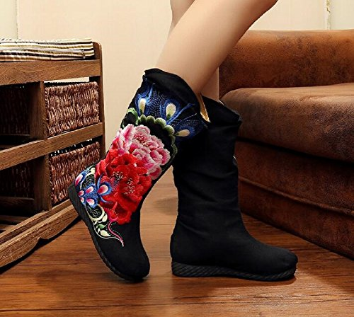 With Black Femme Linging Lazutom Bottes pour Cotton wEqrItIn