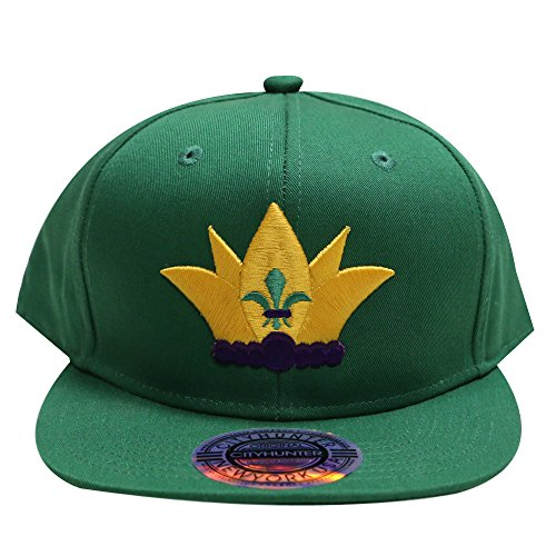 City Hunter Cf919 Mardi Gras Exclusive Jester Hat Snapback Hat Kelly - Caps Snapback Exclusive