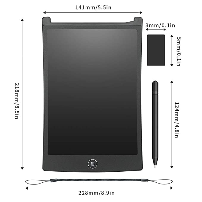 Amazon.com: GUYUCOM - Tablero de escritura con pantalla LCD ...