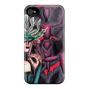 High Quality Shock Absorbing Case For Iphone 4/4s-a Morbid Masquerade