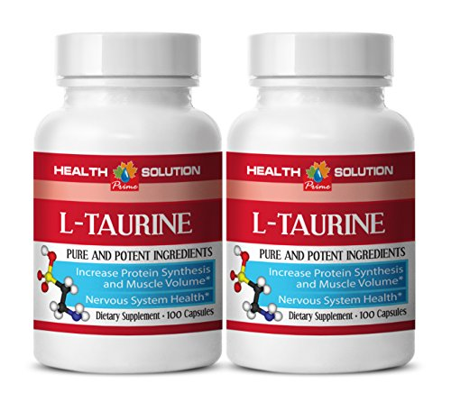 Taurine coq10 - L-TAURINE 500MG - contribute to weight loss (2 Bottles)