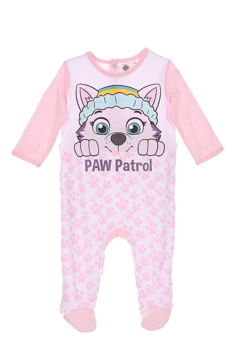 Paw Patrol Nickelodeon Baby Babies Girls Sleepsuit Pyjamas Onesie 100% Cotton 0-24 Months - New 2018