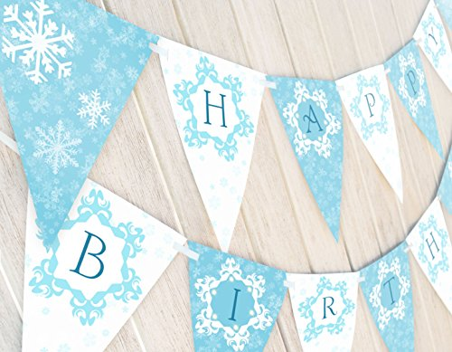 POP parties Snow Princess Birthday Banner - Winter Birthday Banner -
