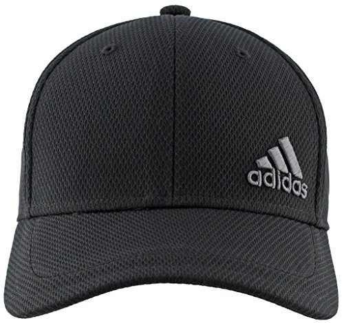 adidas Men's Release Stretch Fit Structured Cap, Black/Onix, (Stretch Fit Golf Hat)