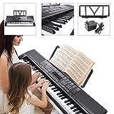 Koval Inc. Music Electronic Keyboard 61 Keys Digital Piano 128-Timbre USB (Black)