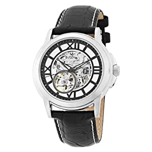 Bulova Men's 96A109 Mechanical Hand-Wind Automatic Strap White Dial Watch