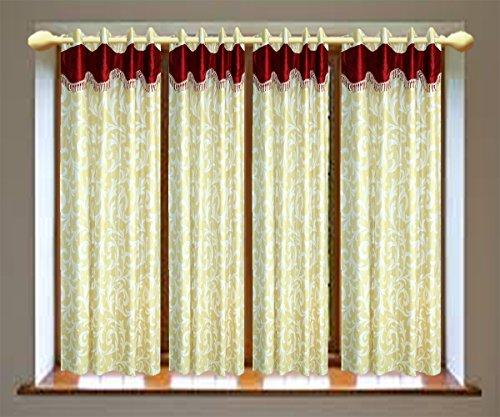 Multi Flower Windew Curtains setof 4 pc