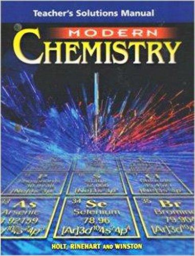 Modern Chemistry : Teacher's Solution Manual