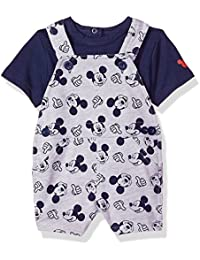 Baby Boys Mickey Knit Shortall Set