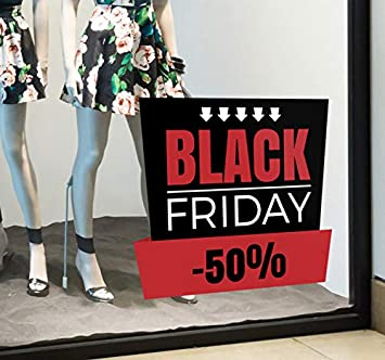 etiqueta de la pared Pegatina Black Friday personalizado ...