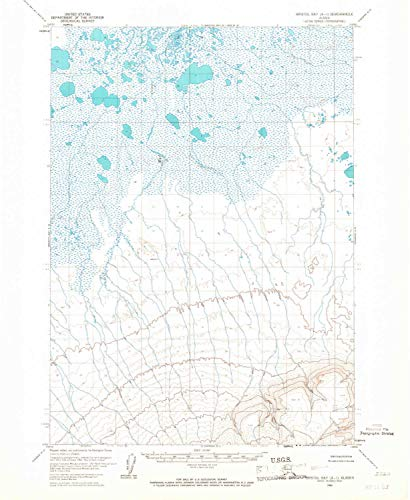 YellowMaps Bristol Bay A 1 AK topo map, 1:63360 Scale, 15 X 15 Minute, Historical, 1963, Updated 1967, 20.7 x 17 in - Tyvek